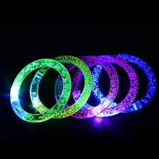 Sound Controlled Voice LED Light Up Bracelets Activated Glow Flash Bangle KW