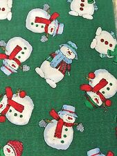 New 2 Yards Of Snowman Toss Christmas Holiday Quilt Sewing Fabric 100% Cotton