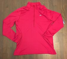 Koppen Pink Pullover 1/2 Zip Athletic Shirt Jacket Running Sport Woman's XL NEW