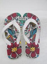 Old Navy Niñas Flores Niños Flip Flops Tamaño 12 UK-US 12/13 L @ @ K