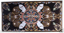 2.5'x5' Marble Dining Table Top Pietradure Inlay Marquetry Scagliola Art H2371