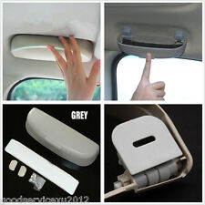 One DIY Grey ABS Plastic Car Vehicle Sunglasses Holder Storage Box Clip For Jeep