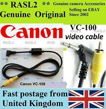 Genuine Canon VC-100 Video Cable PowerShot S20 S10 A5 EOS 1D Mark ll-n 1D MK ll