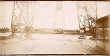 C215 Photographie vintage original Pont transbordeur Rochefort port quai dock