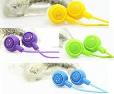 100 PCS Smiling Face Multipurpose Earphone Earbud Headphone for MP3/4, Computer