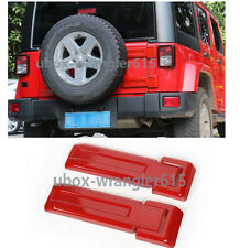4PCS Red Rear Door Spare Tire Hinge Cover Trim Fit For Jeep Wrangler 2008-2017