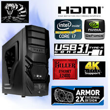 Gamer PC Computer Intel Core i7 6700K-16GB PC2400-8GB Nvidia GTX1080 MSI-