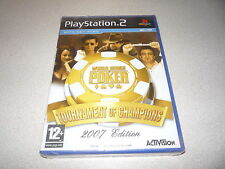 WORLD SERIES POKER TOURNAMENT OF CHAMPIONS 2007 EDITION PS2 PLAYSTATION 2 PAL