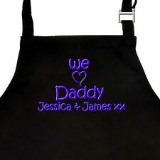 Personalised Fathers Day Gift Apron I or WE LOVE DADDY / GRANDAD & Childs Names