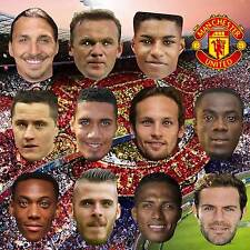 MANCHESTER UNITED FOOTBALL PARTY CARD FACE MASKS STAG NIGHT BIRTHDAY #MP52