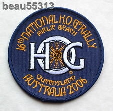2006 HARLEY OWNERS GROUP HOG 16th NATIONAL QUEENSLAND AUSTRALIA RALLY PATCH