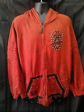 NEW Blac Label Vintage Style Fashion Hoodie Jacket Full Zip Men's 6XL Cotton Red