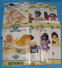 Butterick Cabbage Patch Kids Clothes Sewing Patterns Lot of 8 + Care Cheer Bear