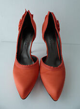 ESCARPINS SATIN ORANGE LANVIN - T41