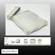 Solid Silver~Visiting Card Case~Art Nouveau~Hallmarked Birmingham 1904~H Mathews
