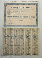 Action ancienne : SA Afrique et Congo 1907 ( 409 )