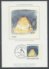 FRANCE FDC - 2504 2 BD REISER - ANGOULEME 29 Janvier 1988 - LUXE sur soie