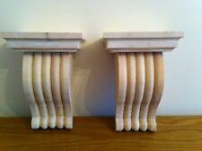 Fatto a mano in legno Mensola Staffe-Style 16