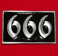 "666 THE NUMBER OF THE BEAST Rock Gothic Punk Unisex BELT BUCKLE 2-1/2"" x 4"" New"