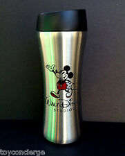 DISNEY Parks TRAVEL MUG MICKEY MOUSE WALT STUDIOS Stainless Steel 16 oz NEW
