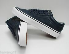Vans Men's Old Skool Leather Dress Blues Stripes VN0003Z6HUM Size 10.5