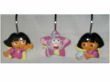 NEW DORA THE EXPLORER & BOOTS STAR CATCHER SHOWER CURTAIN HOOKS NICKELODEON