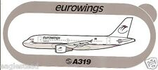 Baggage Label - eurowings - A319 - Airbus - Sticker (BL495)
