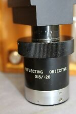 Ealing Beck Edmund Reflecting Objective X15/.28 w/box and glass slide