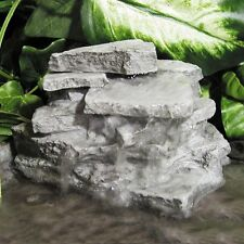 Birds Choice Layered Resin Rock Outdoor Garden Decor Waterfall Fountain