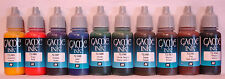 Vallejo Game Color Ink - Complete Set Of 10 x Vallejo Inks - 10 X 17ml Acrylics