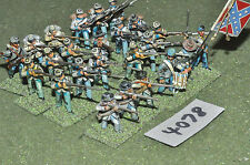 25mm ACW confederate 24 infantry (4078) metal painted