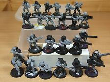 25 PLASTIC WARHAMMER TAU FIRE WARRIORS PART PAINTED (721)