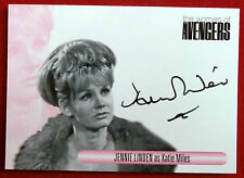The women of the avengers-jennie linden comme katie miles-autographe carte Wajl
