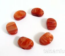 Acoustic, classical guitar tuner pearl red acrylic buttons 6 pieces P14R