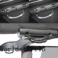 Front + Rear Black Grab Handles Set For Jeep Wrangler JK 2007-2016 4 Door