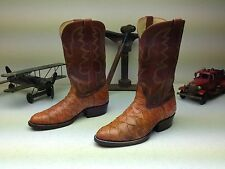 BROWN COGNAC ANTEATER CUSTOM MADE IN USA WESTERN COWBOY BOOTS SIZE 8-8.5 D