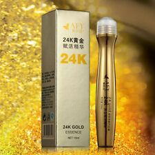 Women mens Beauty Gold Roll-on Eye Cream Anti-Dark Circle Essence Care Collagen