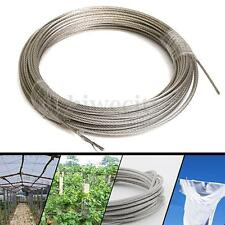 30M 304 Grade Stainless Steel Wire Rope Cable 3mm Clothes Line Ropes Washing