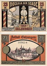 Germany 25 Pfennig 1921 Notgeld Bad Salzungen UNC Uncirculated Banknote