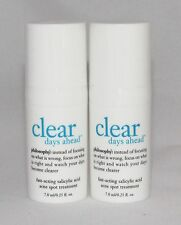 Philosophy Clear Days Ahead Fast Acting Acne Spot Treatment Travel .25 oz x 2