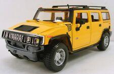 "Maisto 2003 Hummer H2 SUV 1:27 scale 7.5"" diecast model car new Yellow M10"
