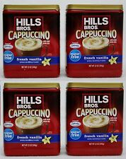 4 Hills Bros FRENCH VANILLA SUGAR FREE Iced Cappuccino Drink Mix 12 oz each can