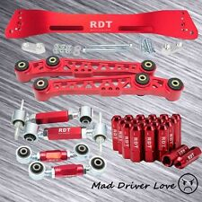 92-95 CIVIC EG REAR SUBFRAME +LOWER CONTROL ARM +CAMBER +TOE +LUG NUT RED MULTI
