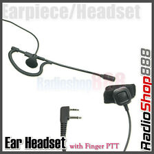 4-014S2L Ear Headset with Finger PTT for Midland GXT Series GXT200 GXT450