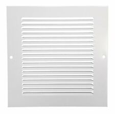 "Hart & Cooley 650 Series 6"" x 6"" W White Flat Wall Return Air Grille #043101"