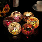 Chinese Mosaic Glass Candle Holders Tealight Votive Holder Wedding / Home Décor