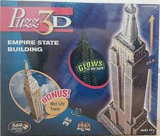 HASBRO - 3D EMPIRE STATE BUILDING + MET LIFE TOWER PUZZLE (NEW & SEALED)