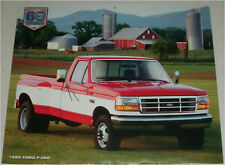 1995 Ford F-350 Pickup truck print  (red & white)