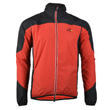 RockBros Cycling Windproof Jacket Bike Rain Coat Long Sleeve Jersey Red 2XL