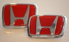 Red Honda Emblem Set JDM Type CIVIC ACCORD INTEGRA 91 92 93 94 95 96 97 98 99 00